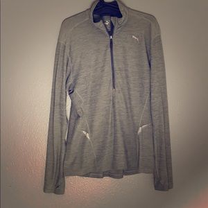 Puma athletic pullover with zip